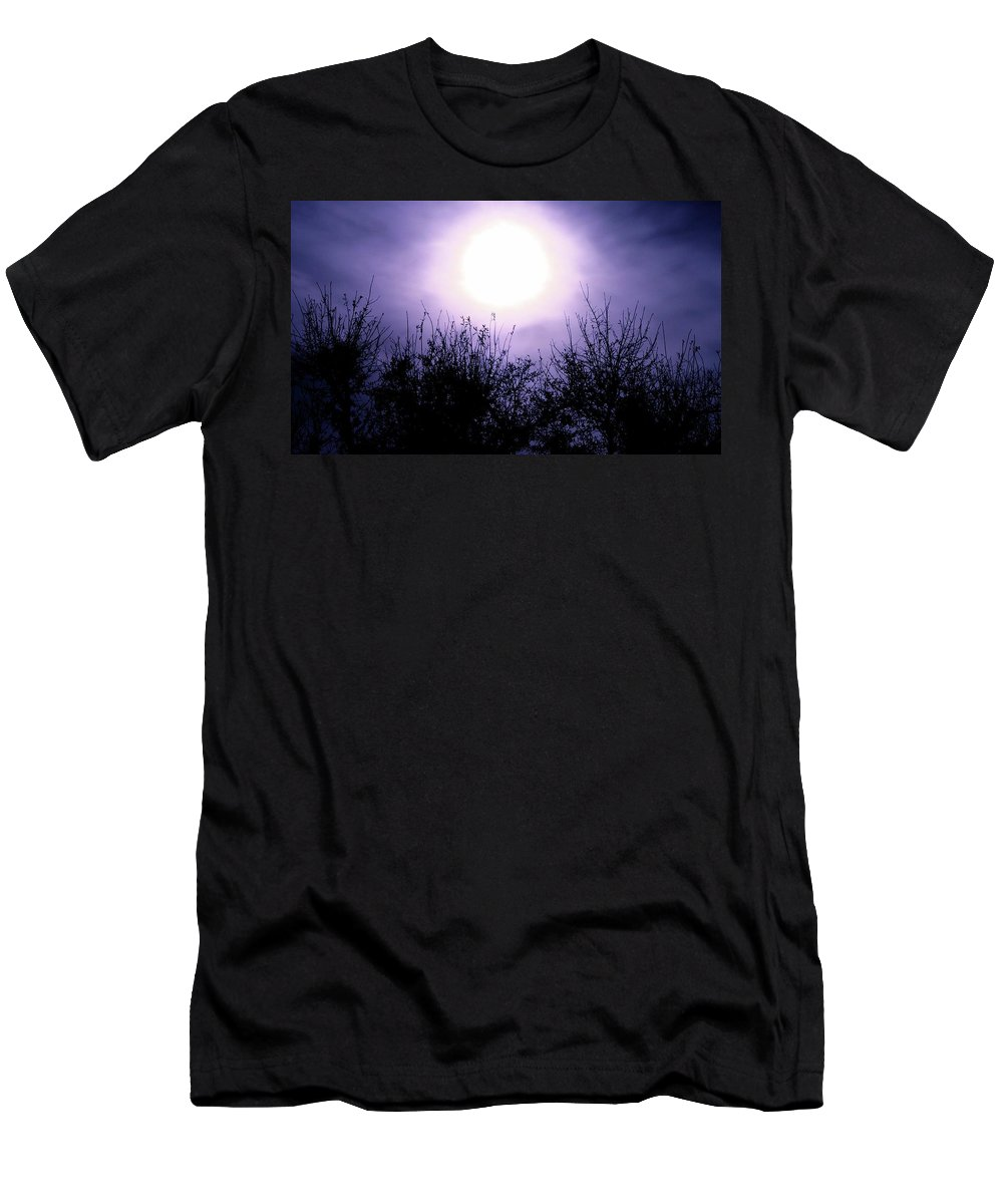 Silhouette Men's T-Shirt (Athletic Fit) featuring the photograph Purple Eclipse by Greg Joens