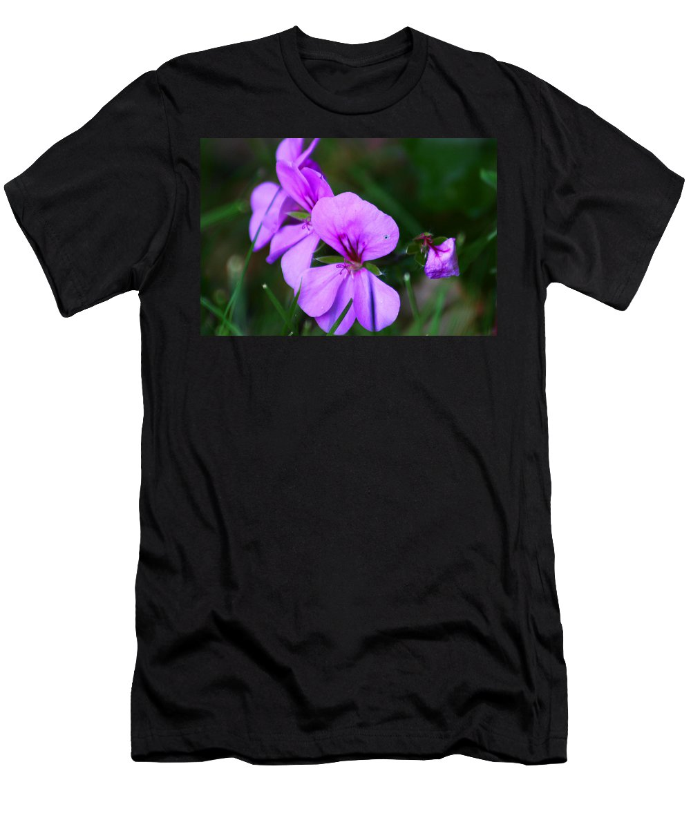 Flowers Men's T-Shirt (Athletic Fit) featuring the photograph Purple Flowers by Anthony Jones