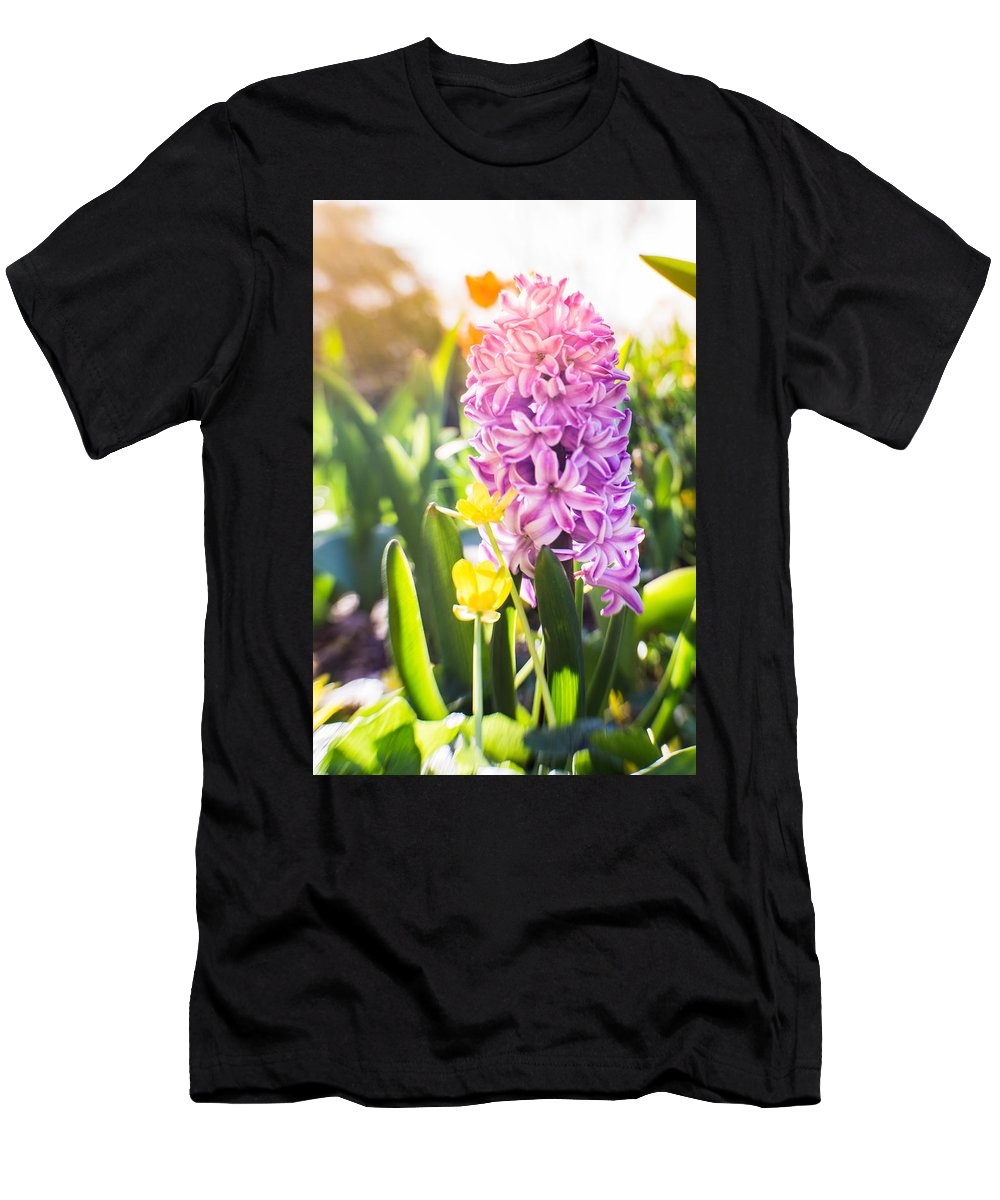 Aromatherapy Men's T-Shirt (Athletic Fit) featuring the photograph Purple Hyacinth by Tat Fung