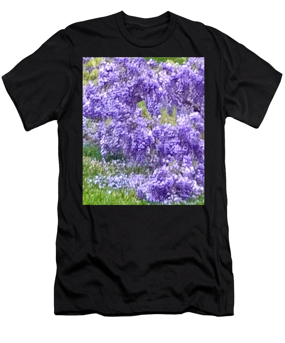 Purple Wisteria Men's T-Shirt (Athletic Fit) featuring the photograph Purple Impression by Susan Reynolds Holloway
