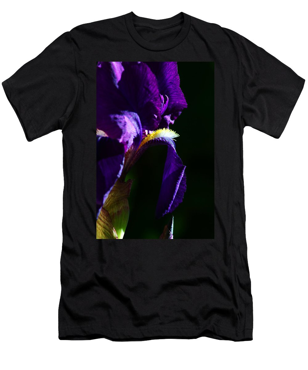 Flower Men's T-Shirt (Athletic Fit) featuring the photograph Purple Iris 2 by Anthony Jones