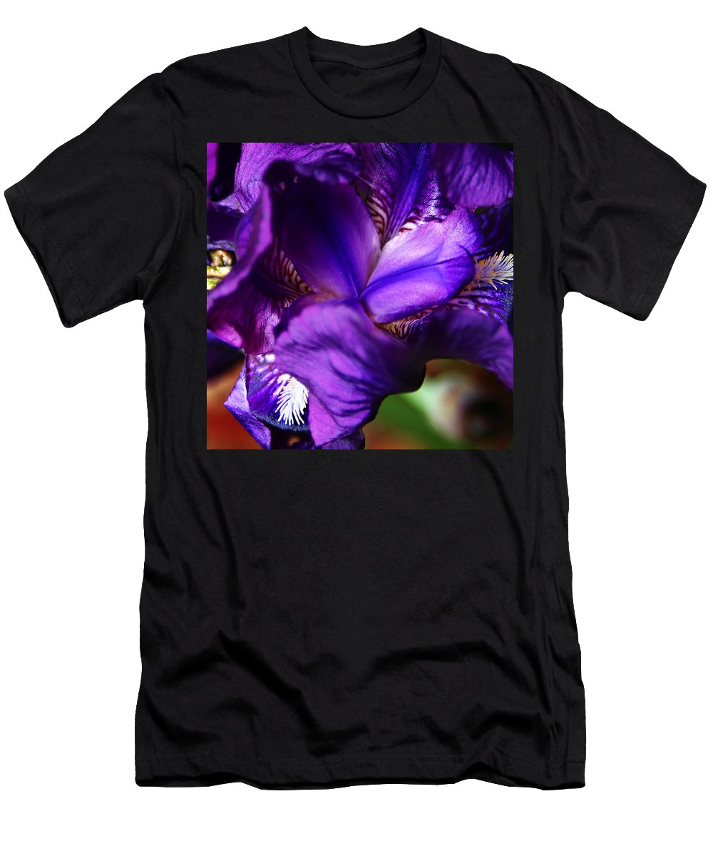 Men's T-Shirt (Athletic Fit) featuring the photograph Purple Iris by Anthony Jones