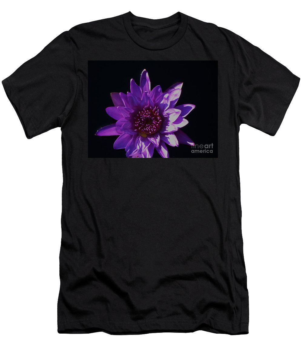 Photograph Men's T-Shirt (Athletic Fit) featuring the photograph Purple Lily Monet by Eric Schiabor