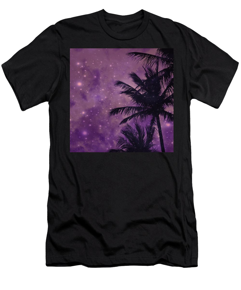 Purple Sky Palm Men's T-Shirt (Athletic Fit) featuring the photograph Purple Sky Palm by UMe images