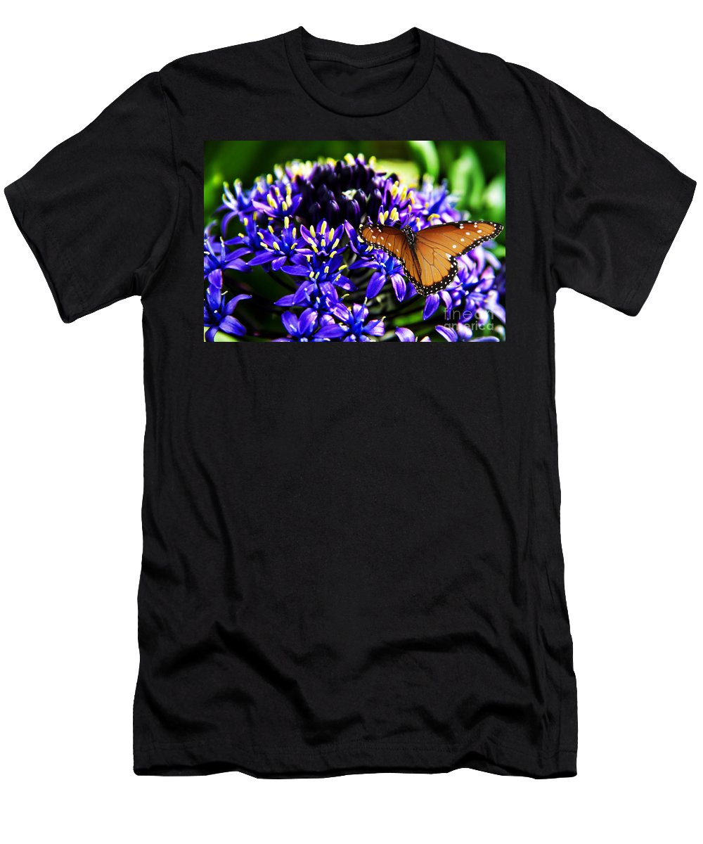 Purple World Men's T-Shirt (Athletic Fit) featuring the photograph Purple World by Mariola Bitner