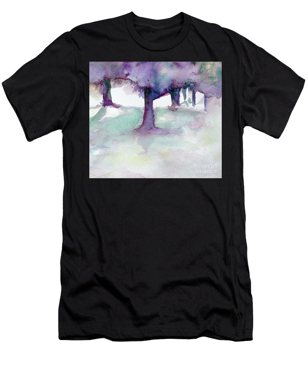 Landscape T-Shirt featuring the painting Purplescape II by Jan Bennicoff