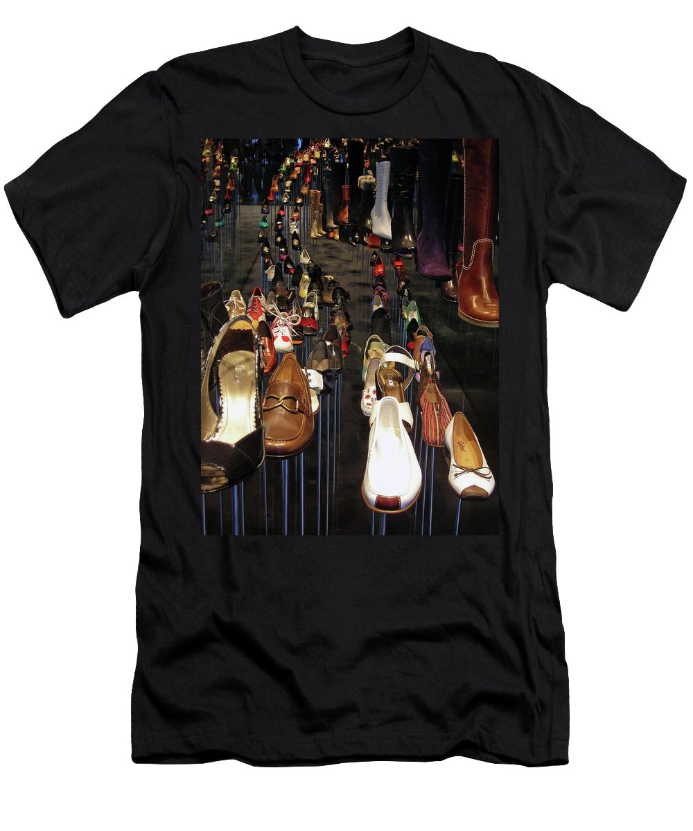 Shoe Men's T-Shirt (Athletic Fit) featuring the photograph Put Your Shoes ... by Juergen Weiss