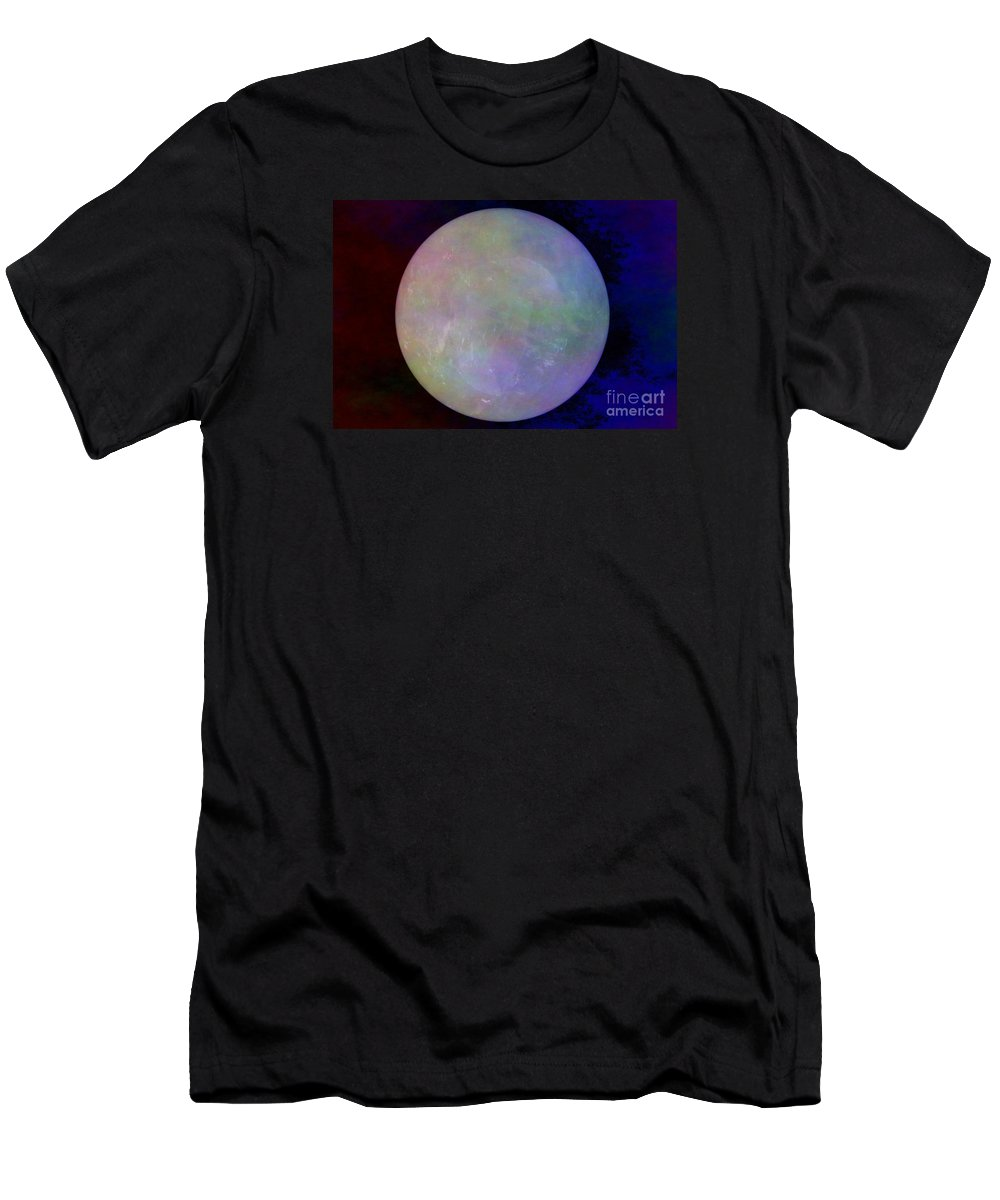 Crystal Ball Men's T-Shirt (Athletic Fit) featuring the photograph Quartz Crystal Ball by Mary Deal