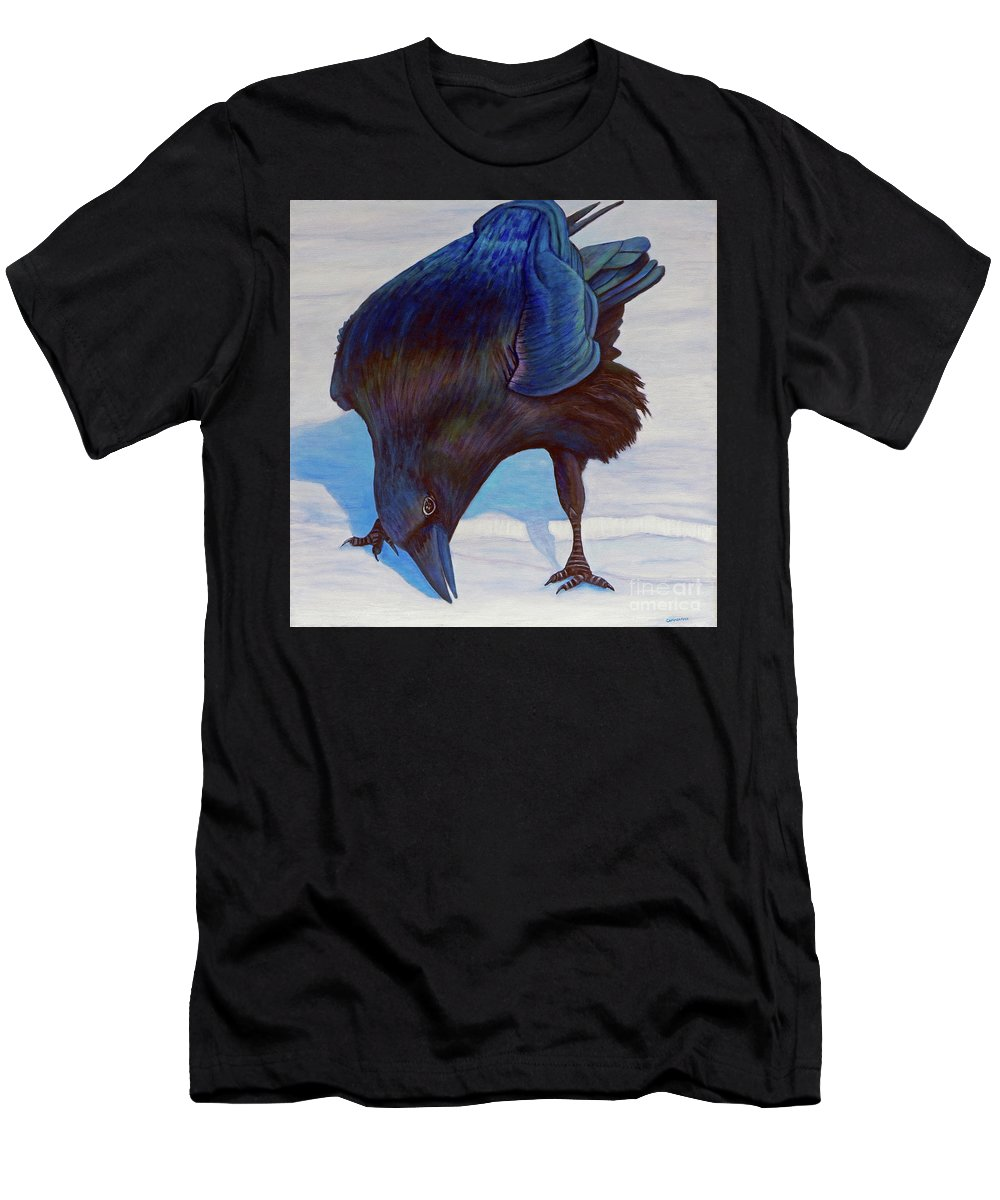 Raven Men's T-Shirt (Athletic Fit) featuring the painting Que Pasa by Brian Commerford