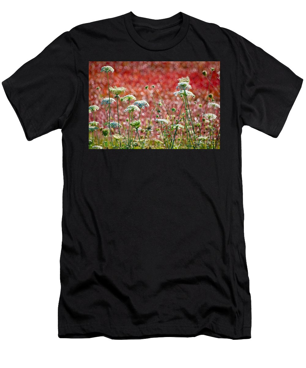 Queen Anne's Lace Men's T-Shirt (Athletic Fit) featuring the photograph Queen Anne's Lace by Zanda K Gutek