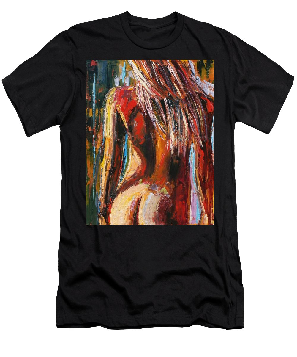 Nude Men's T-Shirt (Athletic Fit) featuring the painting Quiet Breeze by Debra Hurd