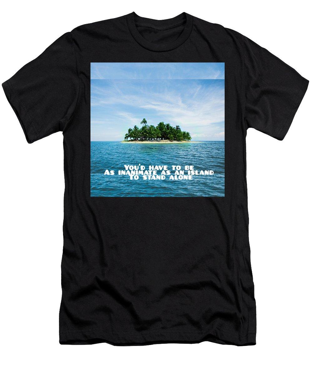 Landscape Men's T-Shirt (Athletic Fit) featuring the photograph Quote1 by Rachael Samson