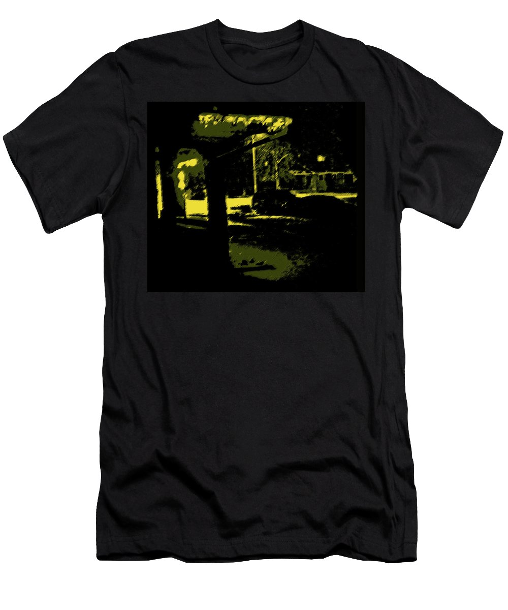 Abstract Men's T-Shirt (Athletic Fit) featuring the photograph R2-d2 And Friends by Lenore Senior