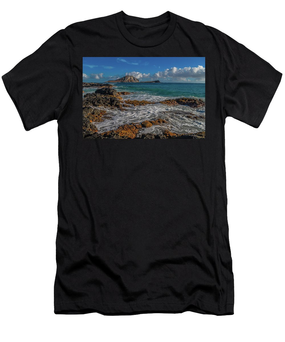 Rabbit Island Men's T-Shirt (Athletic Fit) featuring the photograph Rabbit Island by Richard Cheski
