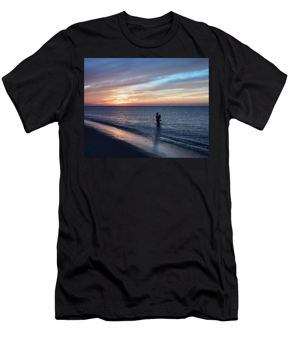 Cape Cod Men's T-Shirt (Athletic Fit) featuring the photograph Race Point Peace by Karen Regan