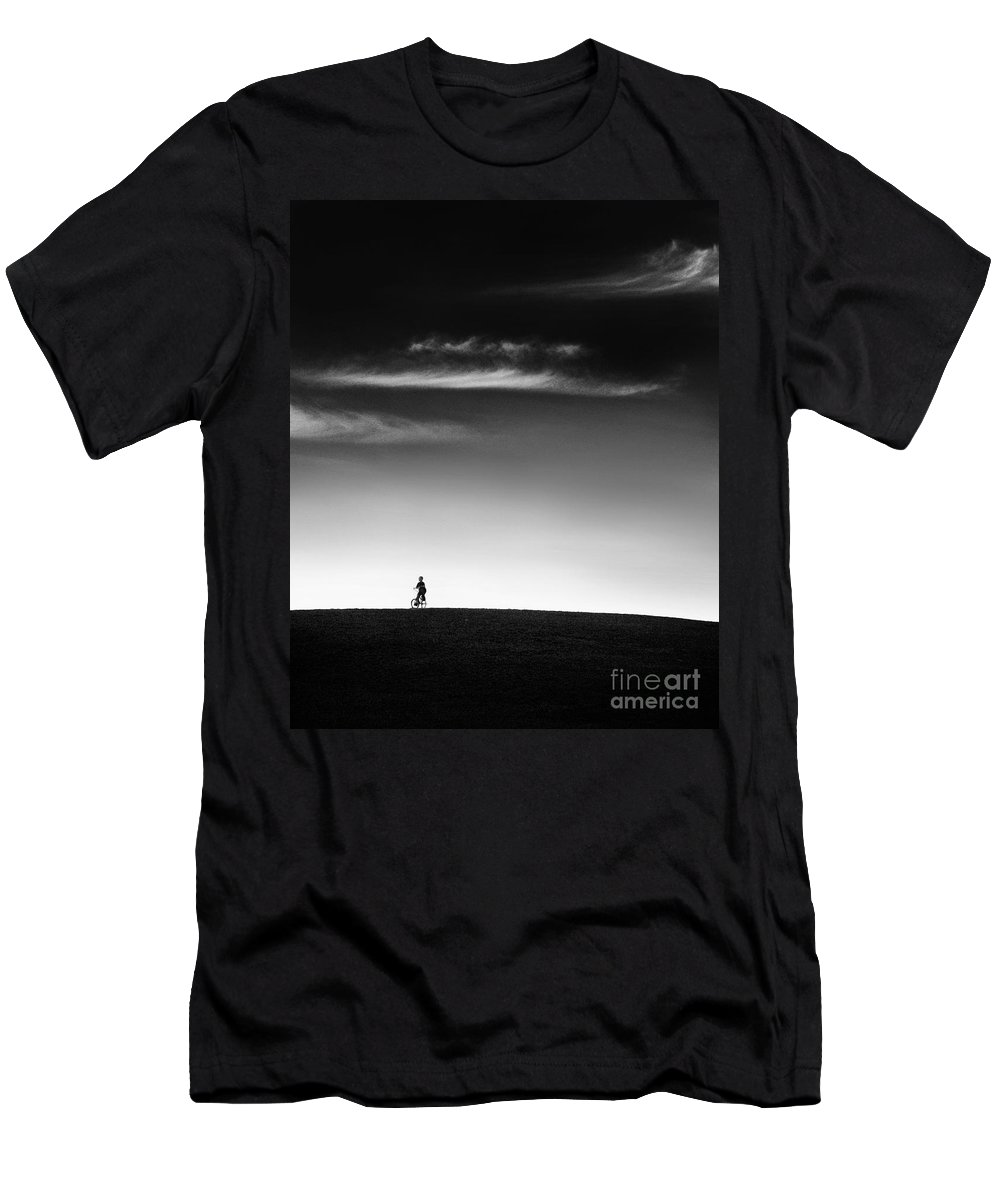 Boy Men's T-Shirt (Athletic Fit) featuring the photograph Racing The Wind by Dana DiPasquale