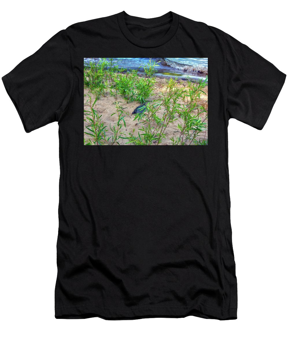 Summer Men's T-Shirt (Athletic Fit) featuring the photograph Racing To The Edge by Wild Thing