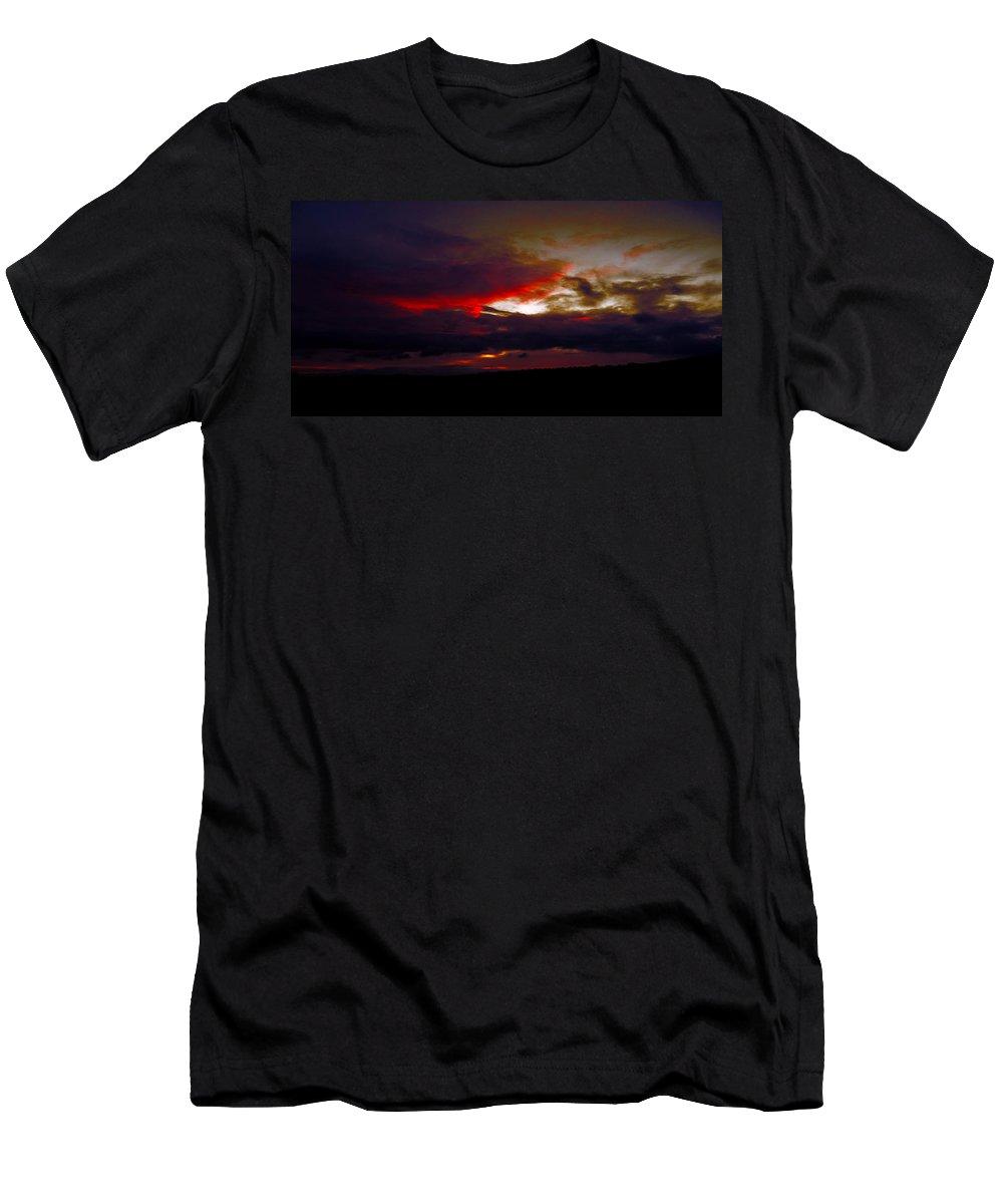 Landscape Men's T-Shirt (Athletic Fit) featuring the photograph Rage - Sunset by P Donovan