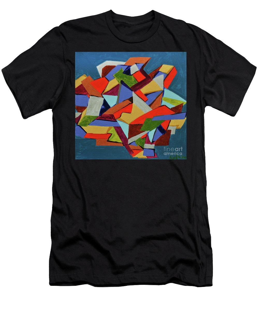 Abstract Men's T-Shirt (Athletic Fit) featuring the painting Rage Against The Box by Kafia Haile
