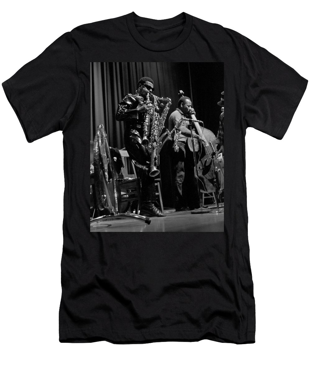 Rahsaan Roland Kirk Men's T-Shirt (Athletic Fit) featuring the photograph Rahsaan Roland Kirk 1 by Lee Santa