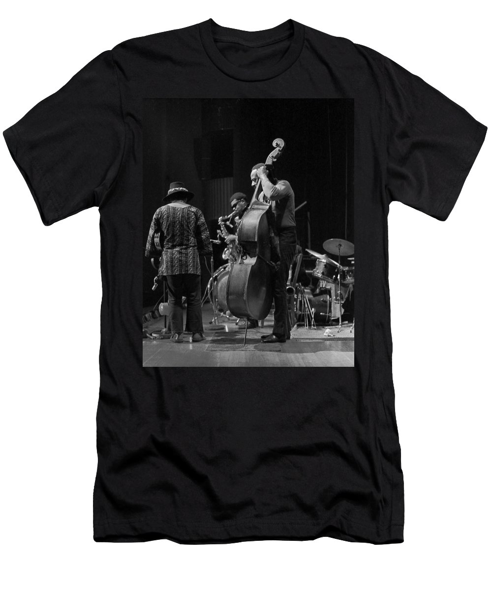 Rahsaan Roland Kirk Men's T-Shirt (Athletic Fit) featuring the photograph Rahsaan Roland Kirk 2 by Lee Santa