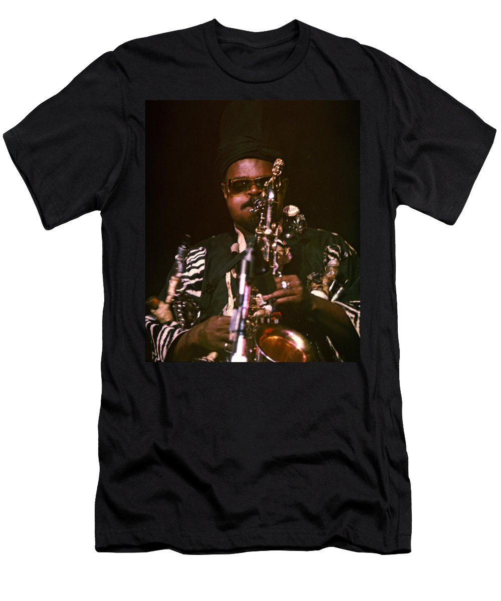 Rahsaan Roland Kirk T-Shirt featuring the photograph Rahsaan Roland Kirk 3 by Lee Santa