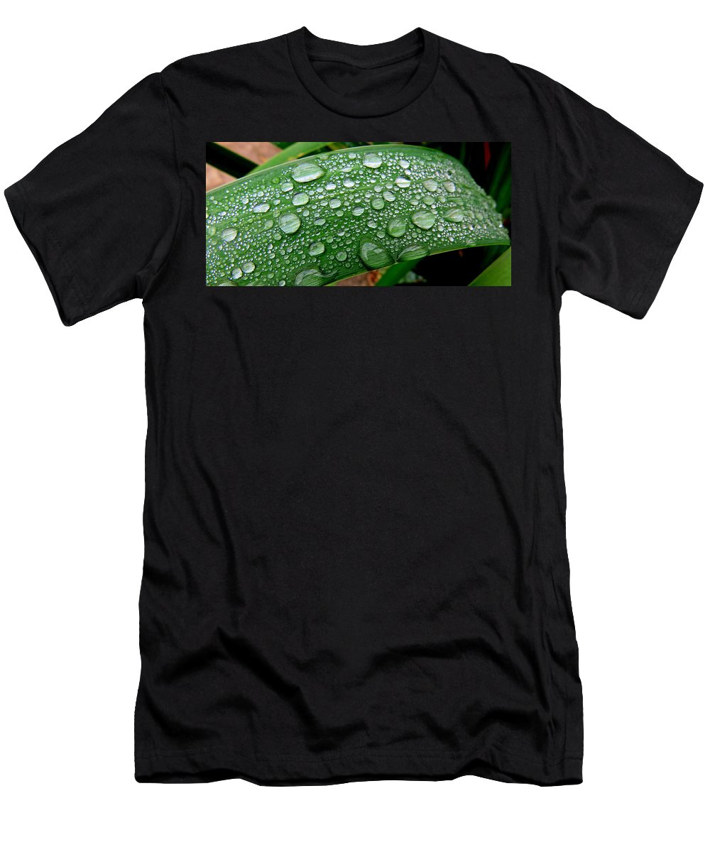Rain Men's T-Shirt (Athletic Fit) featuring the photograph Rain Drops by Dianne Pettingell
