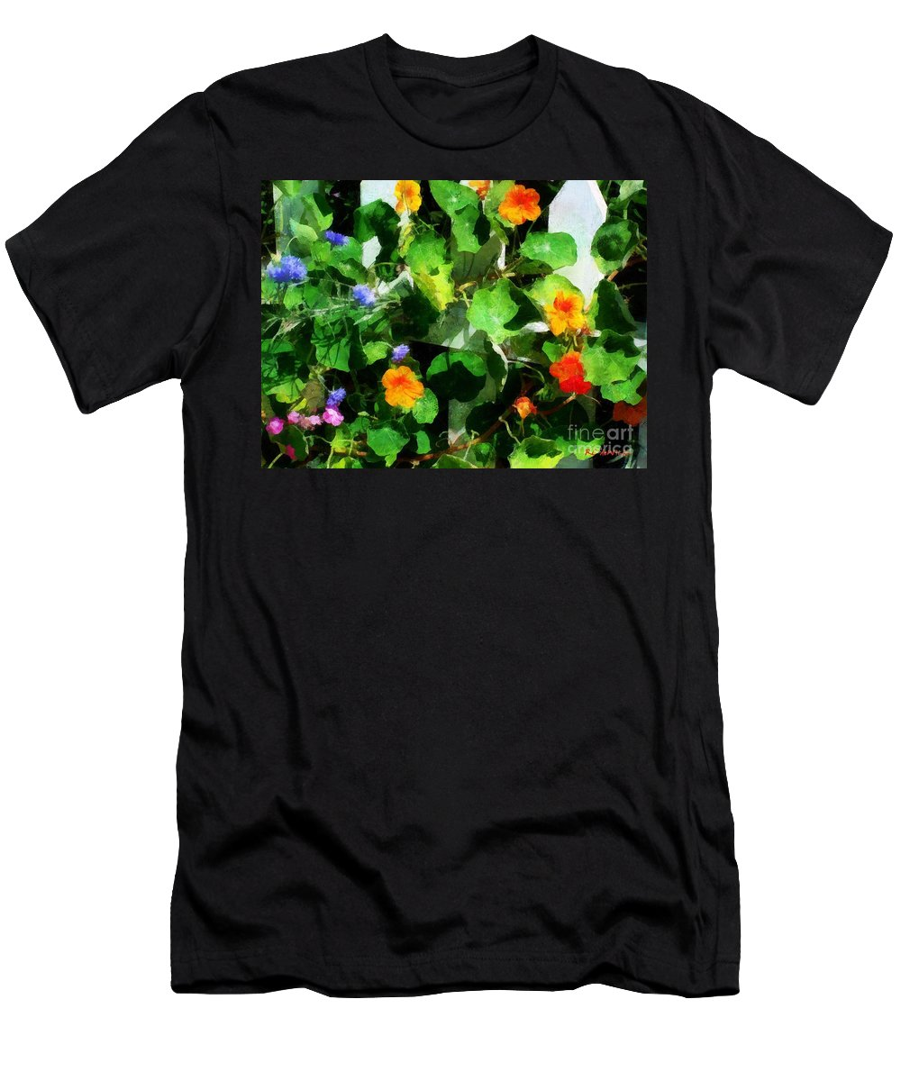 Garden Men's T-Shirt (Athletic Fit) featuring the painting Rainbow Riot by RC DeWinter