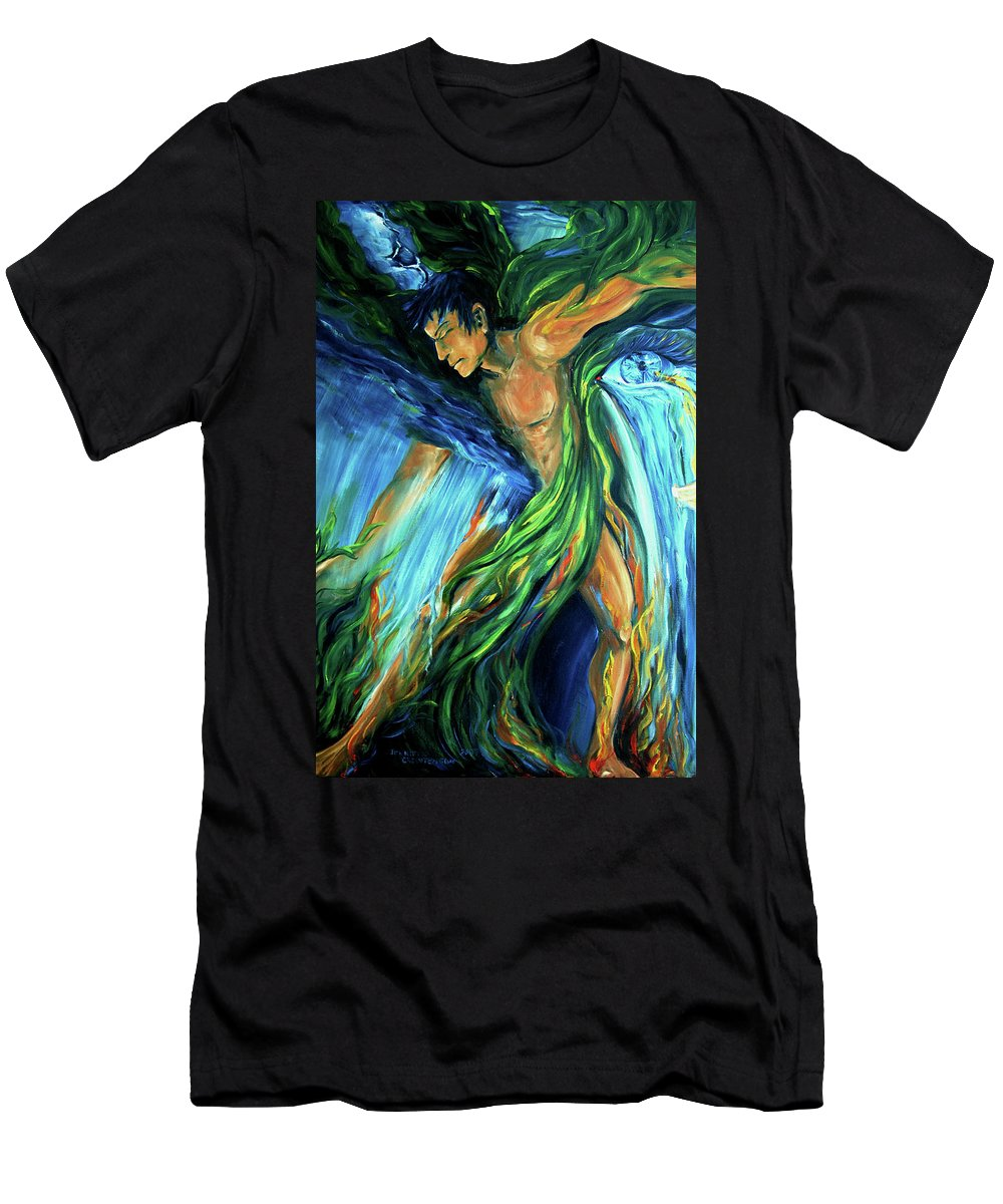 Vision Quest Men's T-Shirt (Athletic Fit) featuring the photograph Raindancer by Jennifer Christenson