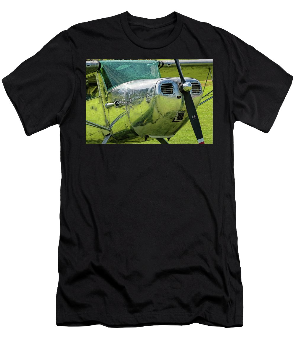 Cessna Men's T-Shirt (Athletic Fit) featuring the photograph Raindrops On A Cessna - 2018 Christopher Buff, Www.aviationbuff. by Chris Buff