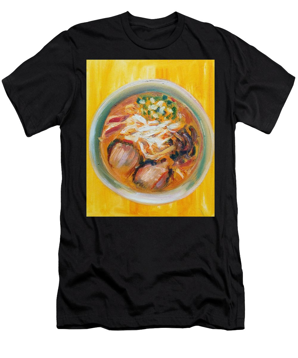 Ramen Men's T-Shirt (Athletic Fit) featuring the painting Ramen II by Christian Scott Relleve