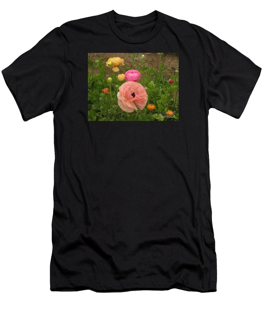 Ranunculus Men's T-Shirt (Athletic Fit) featuring the photograph Ranunculus 4 by Marta Robin Gaughen