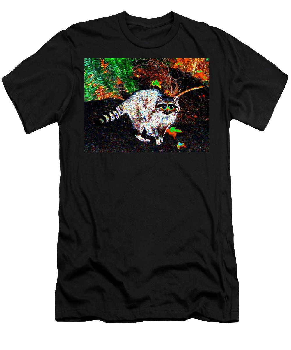 Raccoon Men's T-Shirt (Athletic Fit) featuring the photograph Rascally Raccoon by Will Borden