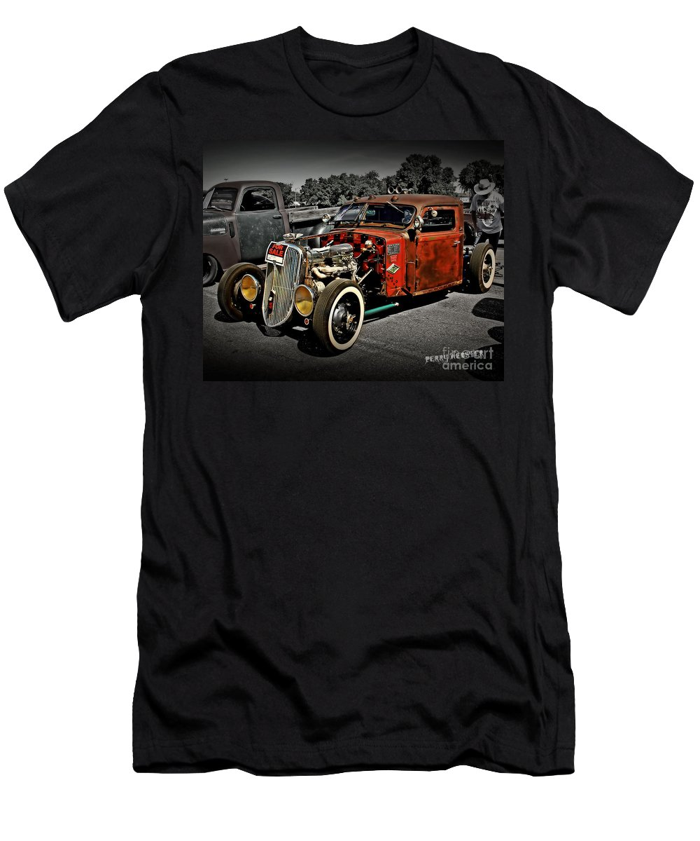 Rat Rod Men's T-Shirt (Athletic Fit) featuring the photograph Rat Rod For Sale 2 by Perry Webster