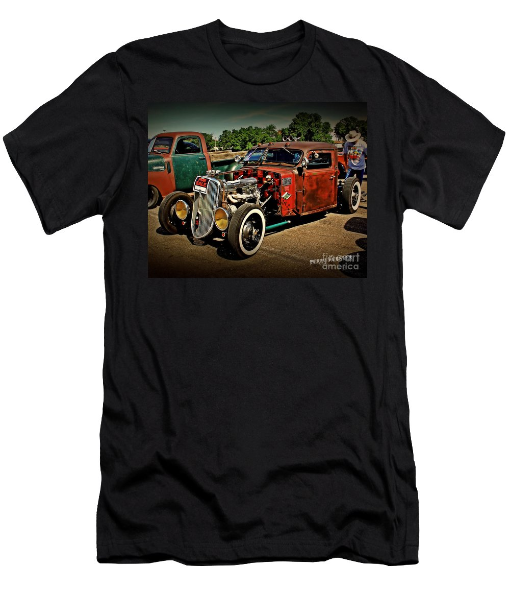 Rat Rod Men's T-Shirt (Athletic Fit) featuring the photograph Rat Rod For Sale by Perry Webster