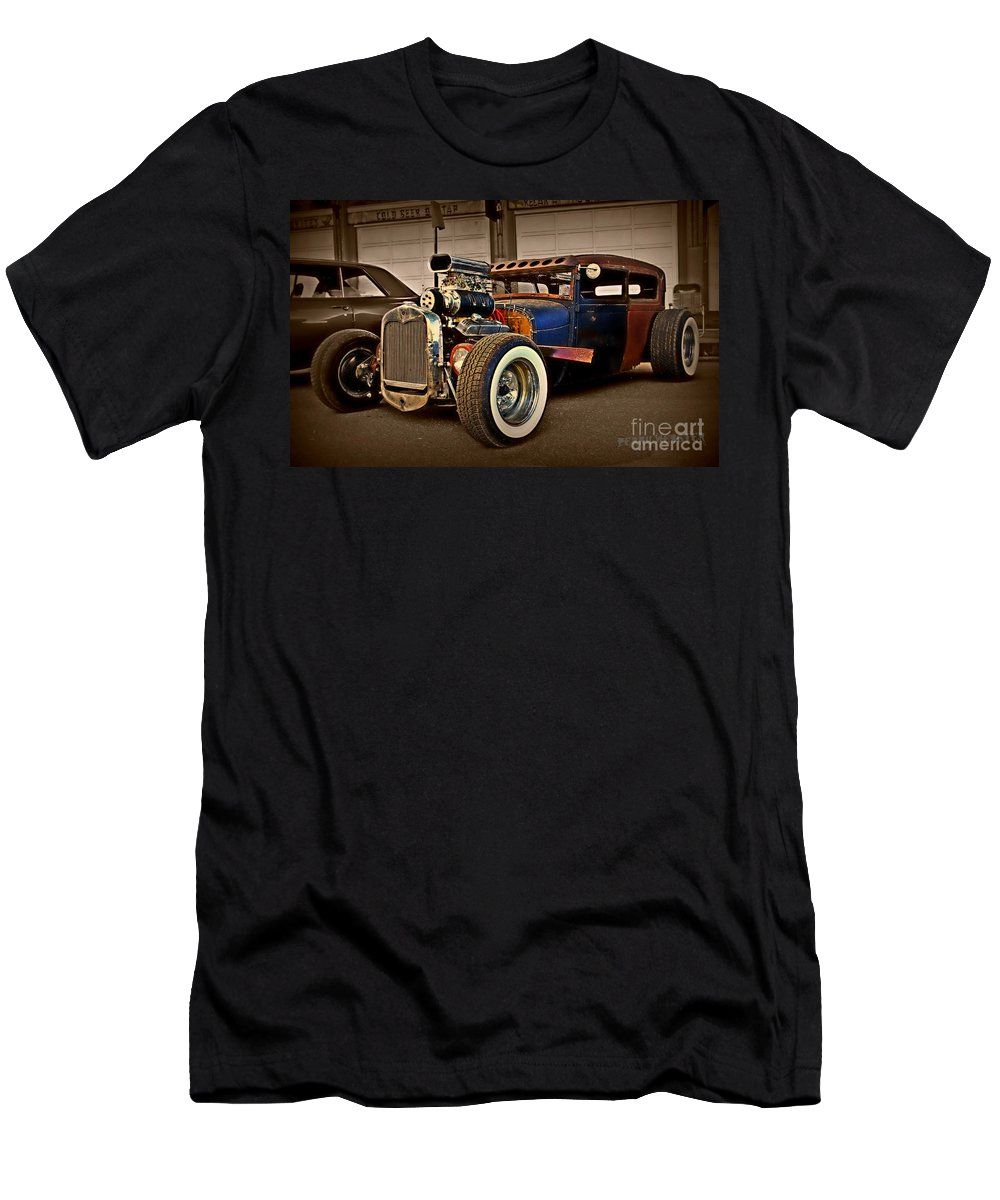 Rat Rod Men's T-Shirt (Athletic Fit) featuring the photograph Rat Rod Scene 2 by Perry Webster