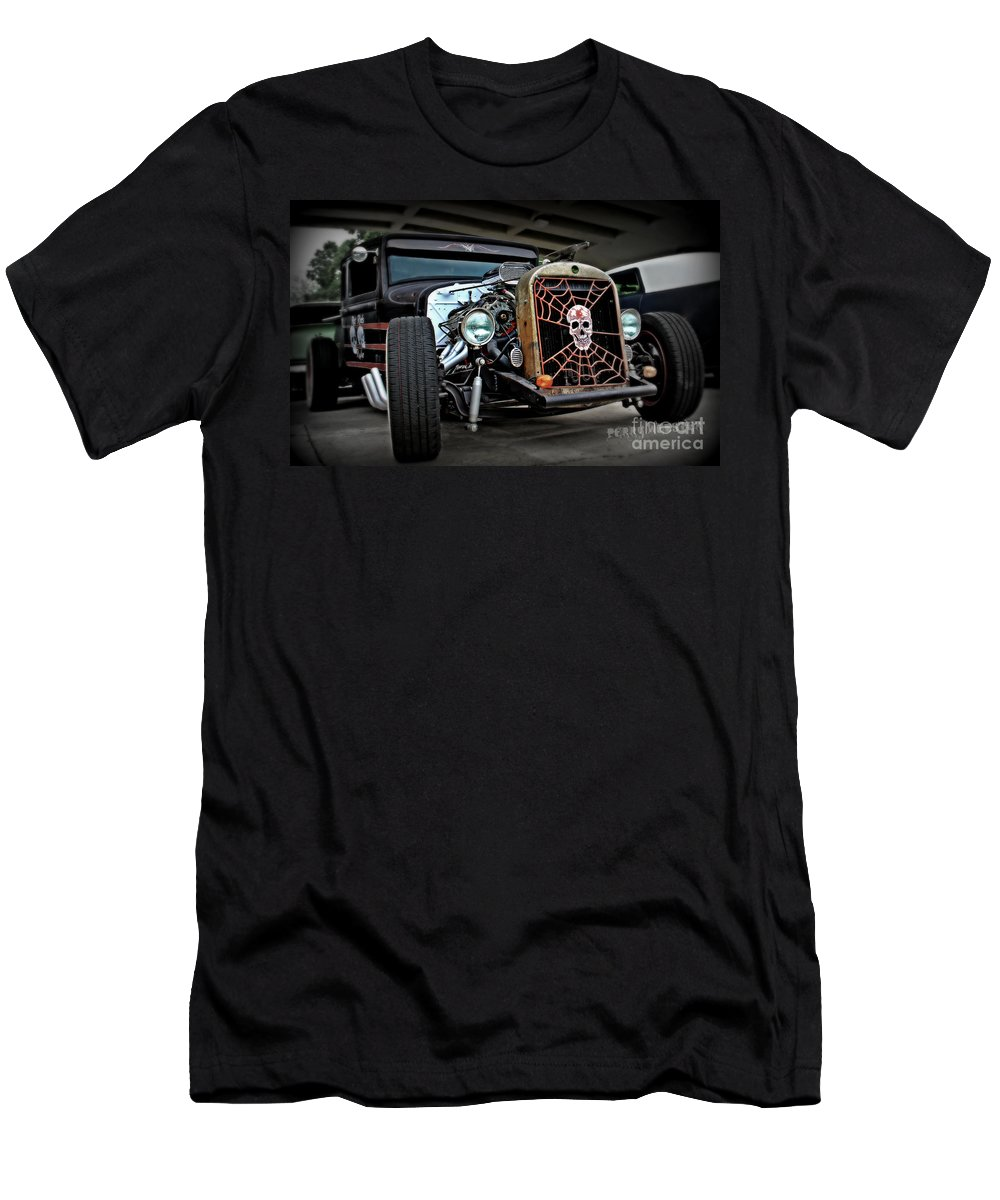 Rat Rod Men's T-Shirt (Athletic Fit) featuring the photograph Rat Rod Style by Perry Webster