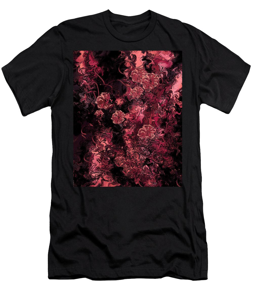 Abstract Men's T-Shirt (Athletic Fit) featuring the digital art Ravaged Heart by Rachel Christine Nowicki