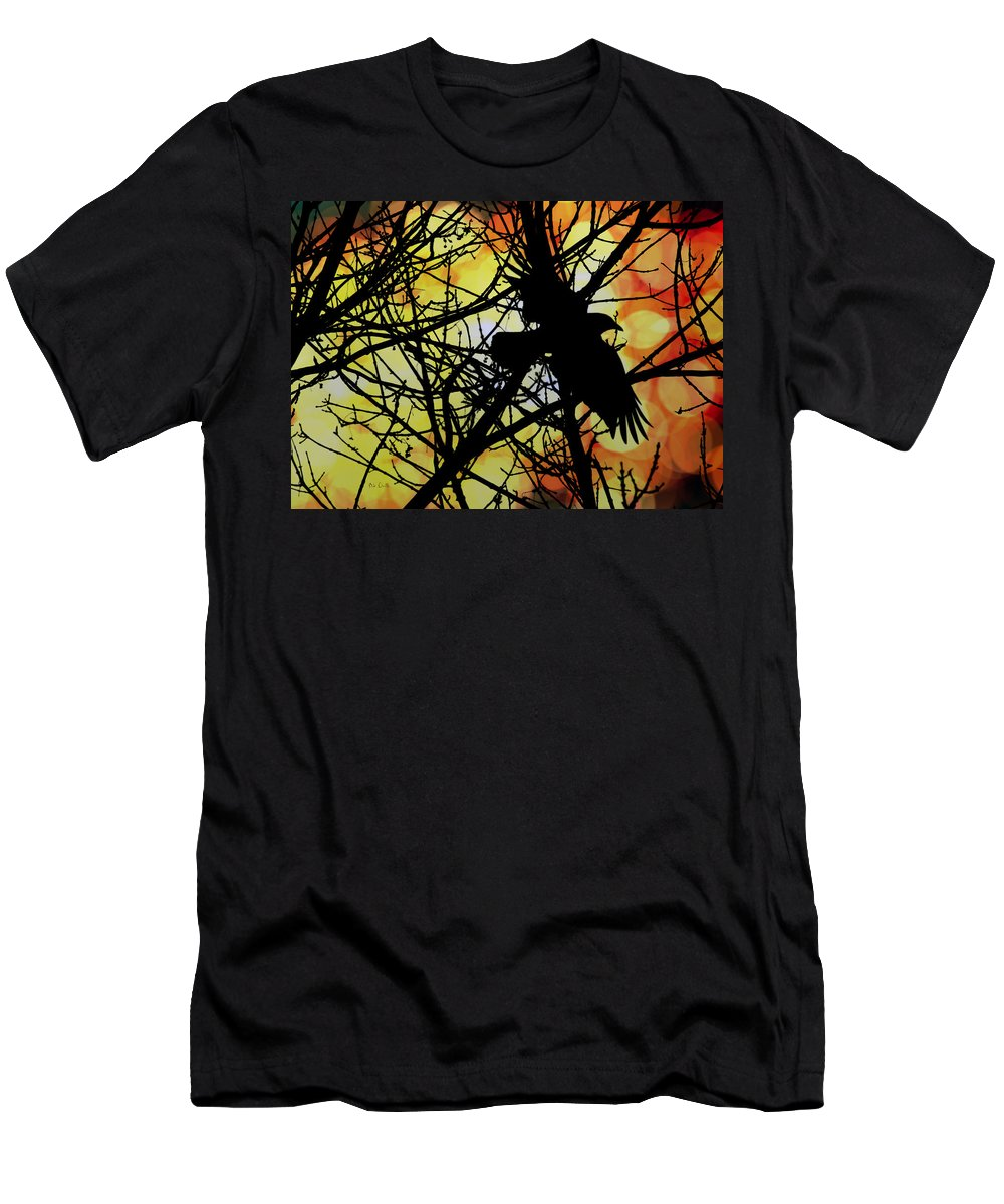 Raven Men's T-Shirt (Athletic Fit) featuring the photograph Raven by Bob Orsillo
