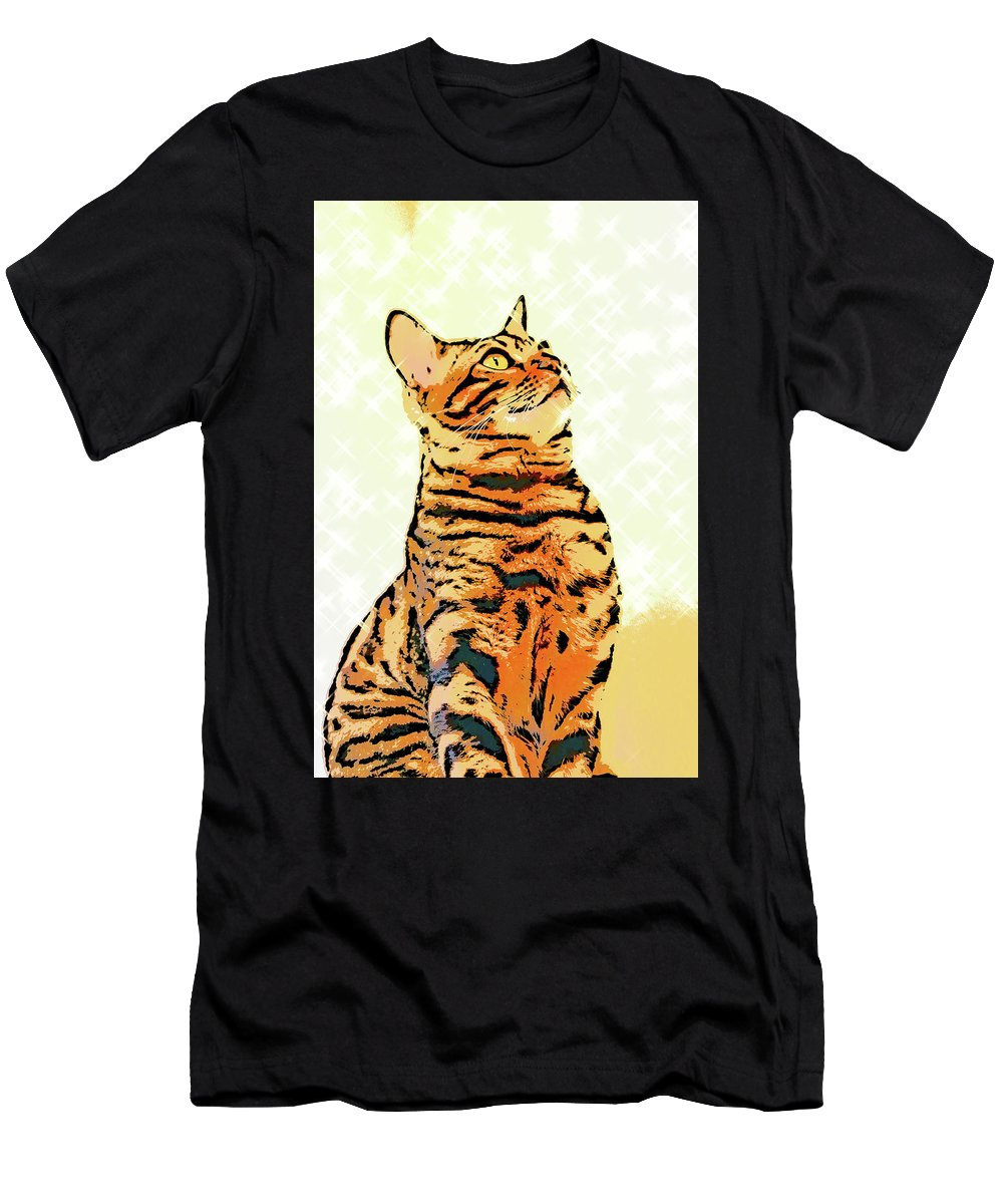 Cat Men's T-Shirt (Athletic Fit) featuring the photograph Ravi Series #9 by Vicki Podesta
