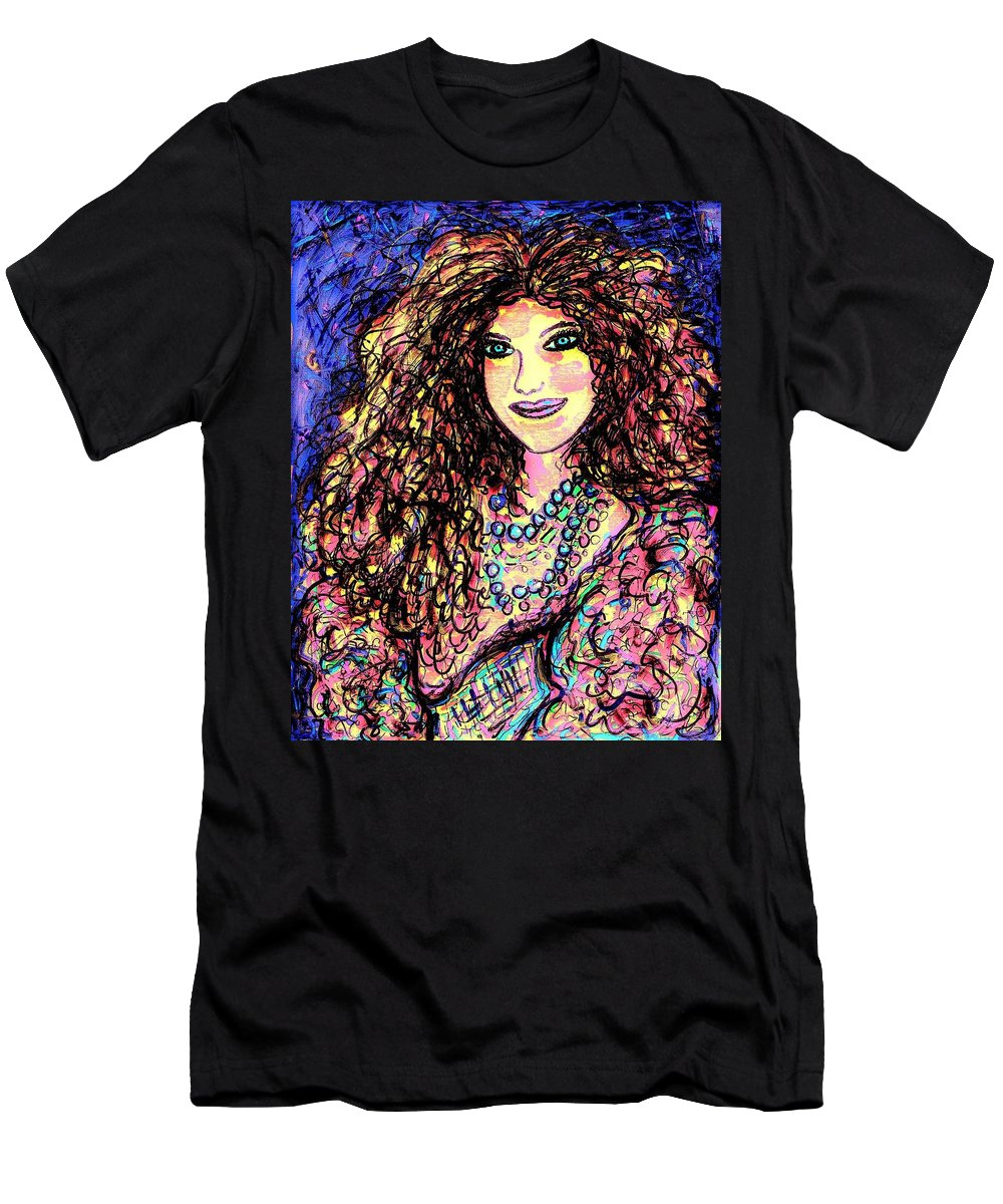 Woman Men's T-Shirt (Athletic Fit) featuring the painting Ravishing Beauty by Natalie Holland