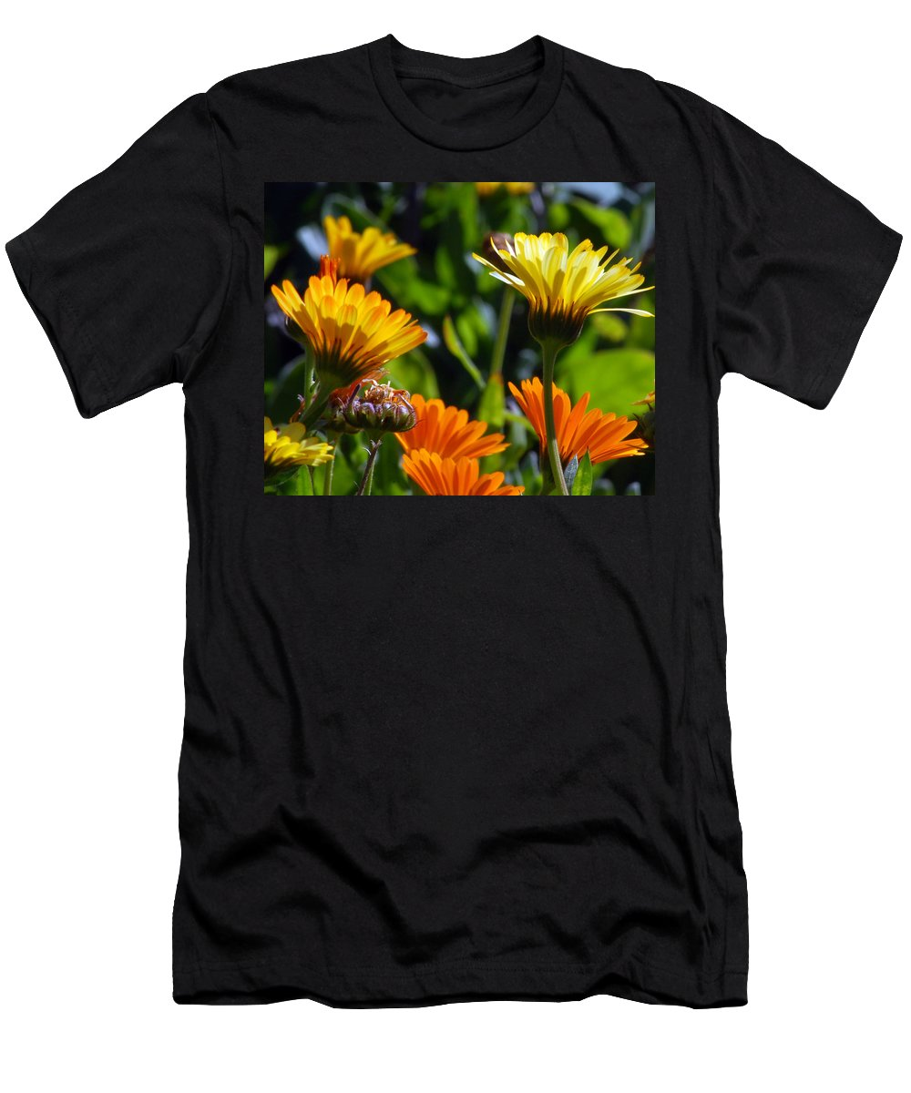 Flower Men's T-Shirt (Athletic Fit) featuring the photograph Reach For The Sun 1 by Amy Fose