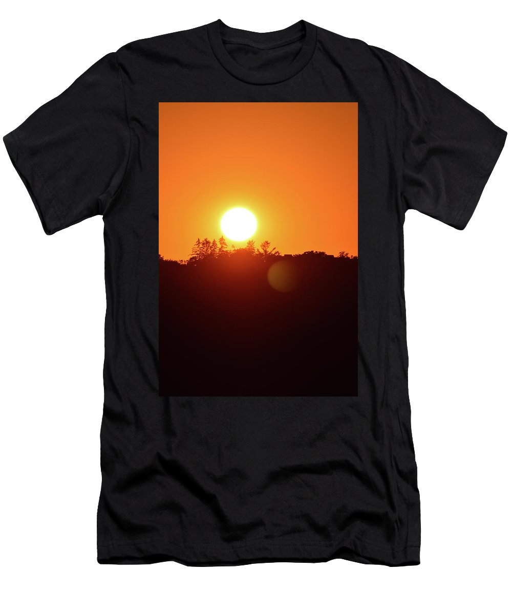 Abstract Men's T-Shirt (Athletic Fit) featuring the digital art Reach Out by Lyle Crump