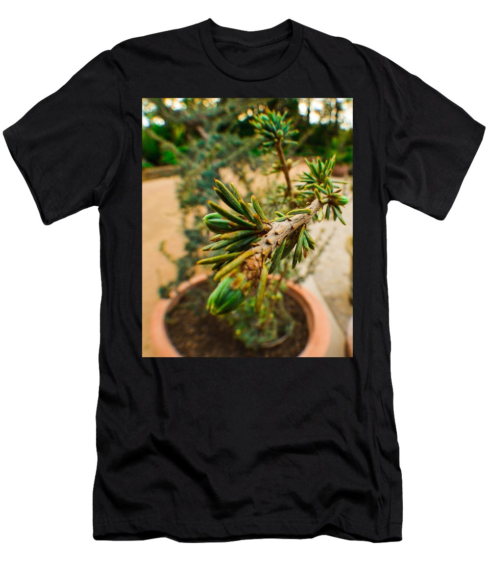 Plant Men's T-Shirt (Athletic Fit) featuring the photograph Reaching Out by Miranda Strapason