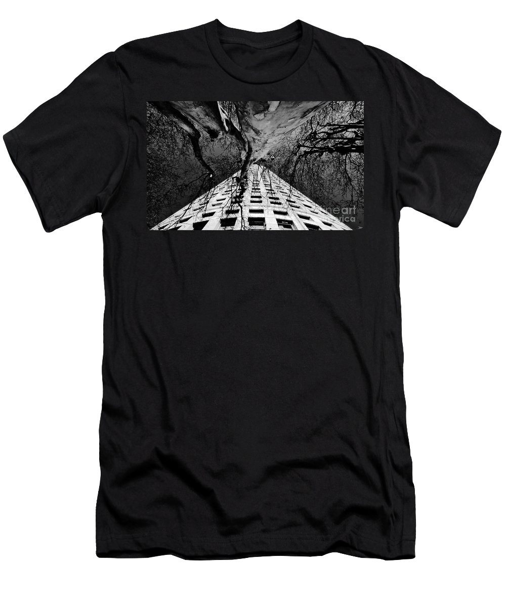 Art Men's T-Shirt (Athletic Fit) featuring the painting Reaching Up by David Lee Thompson