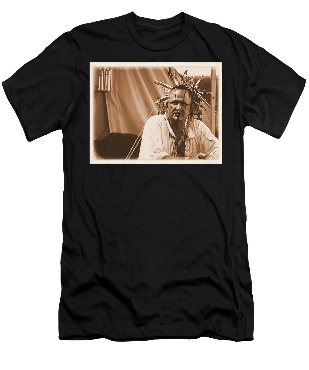 Shawnee Men's T-Shirt (Athletic Fit) featuring the photograph Ready For Battle by Bob Welch