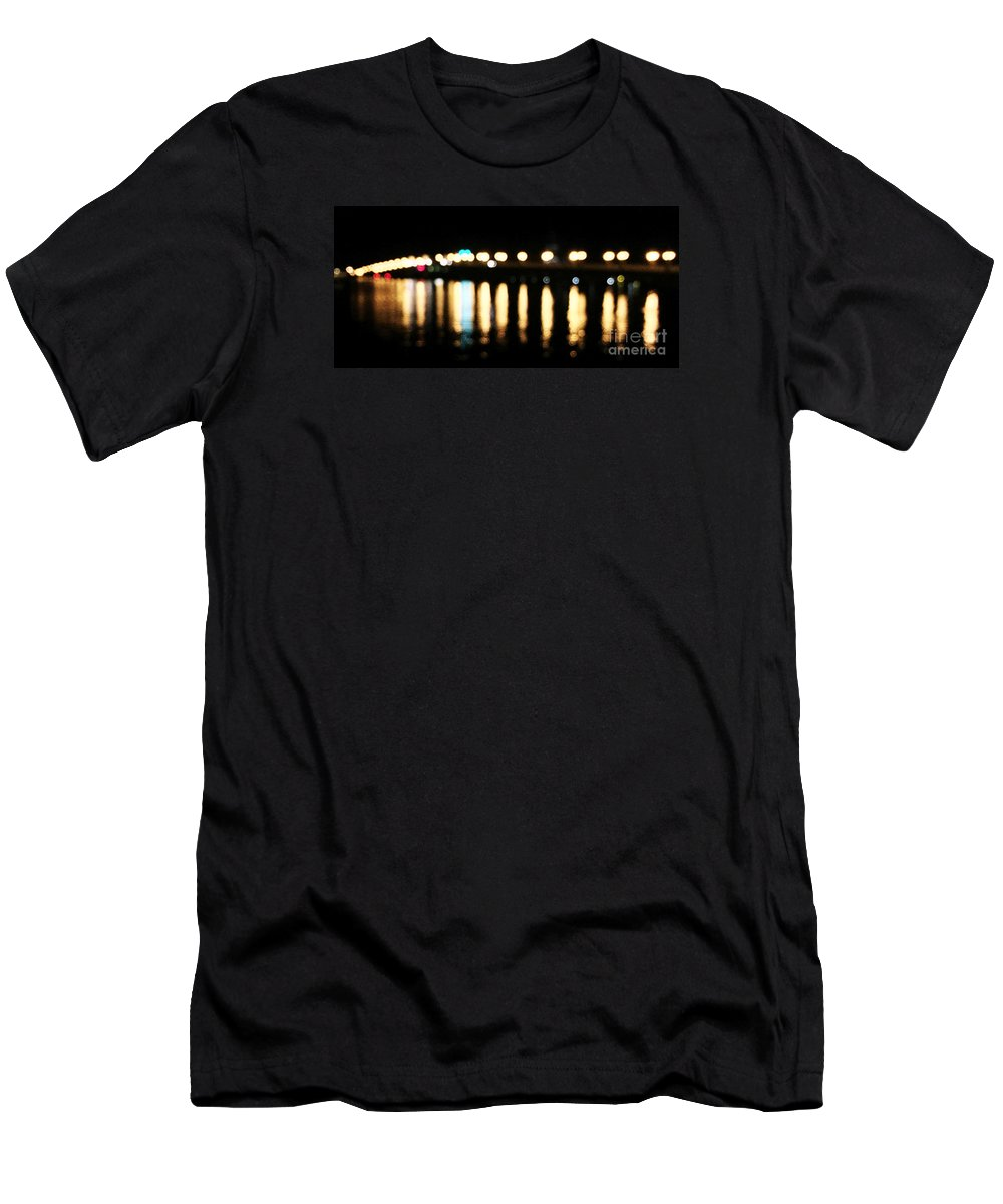Staugustine Men's T-Shirt (Athletic Fit) featuring the photograph Bridge Of Lions - Old City Lights by LeeAnn Kendall