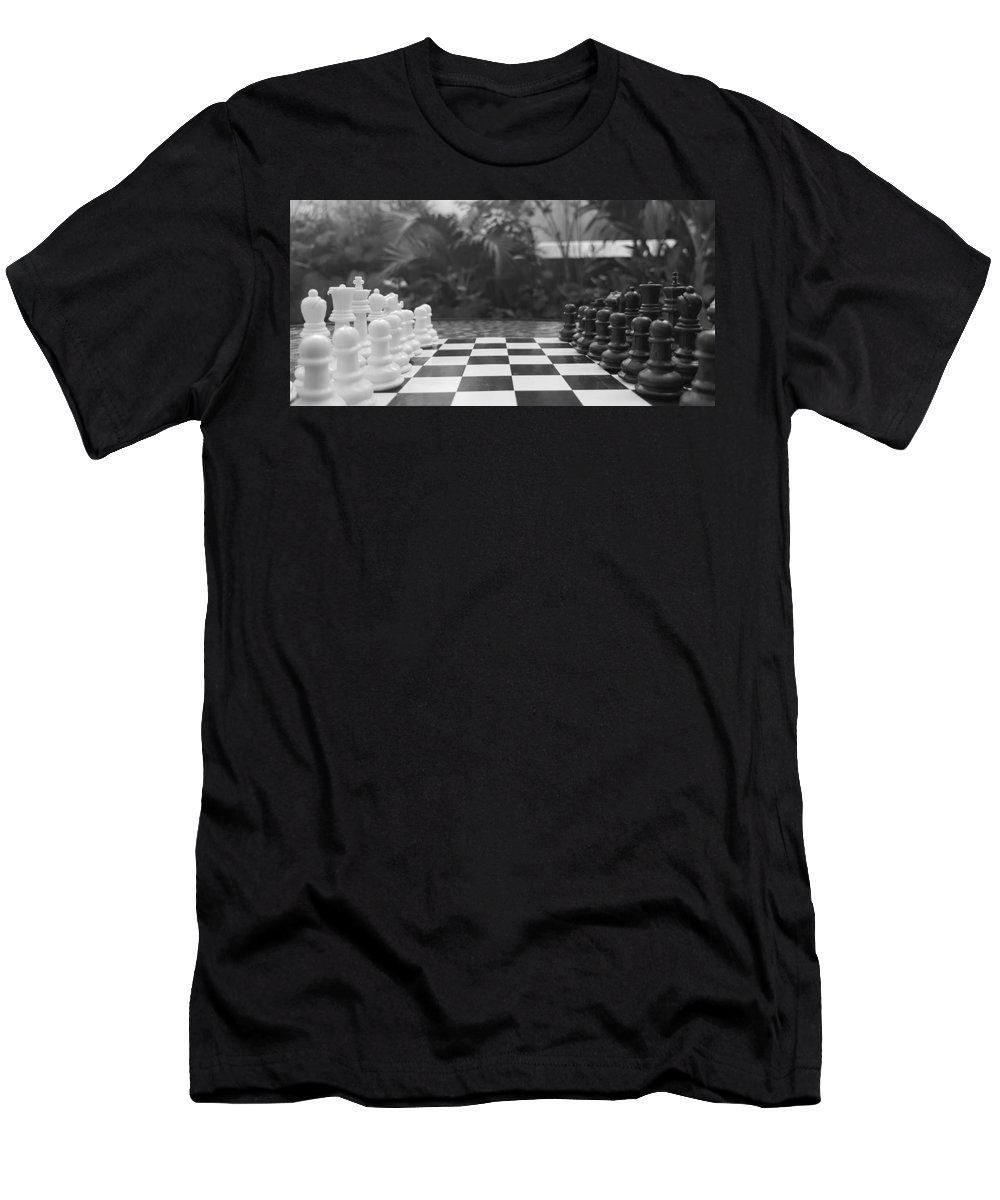 Men's T-Shirt (Athletic Fit) featuring the photograph Ready Set Chess by Marisa McFarlane