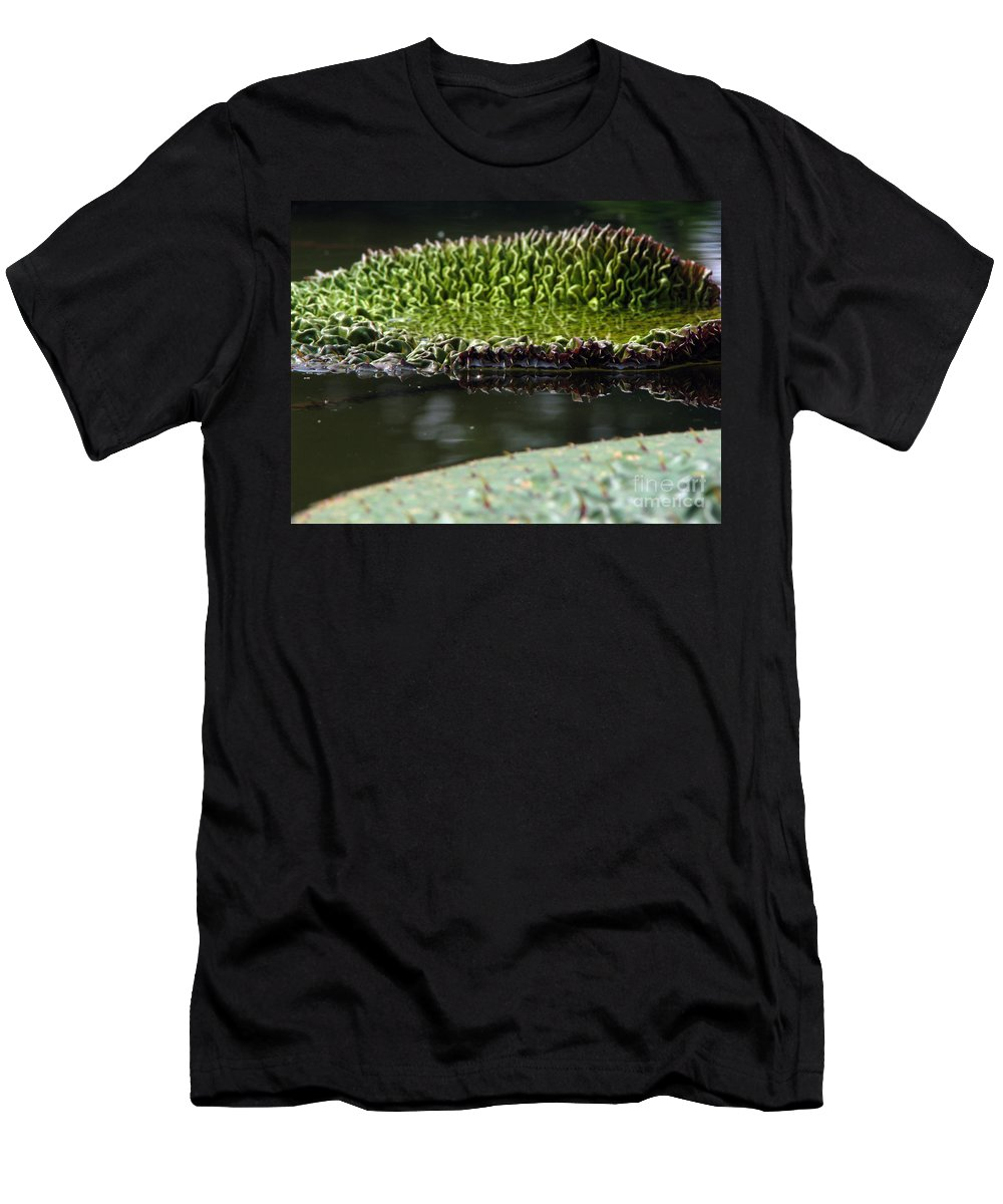 Lillypad Men's T-Shirt (Athletic Fit) featuring the photograph Ready To Spread by Amanda Barcon