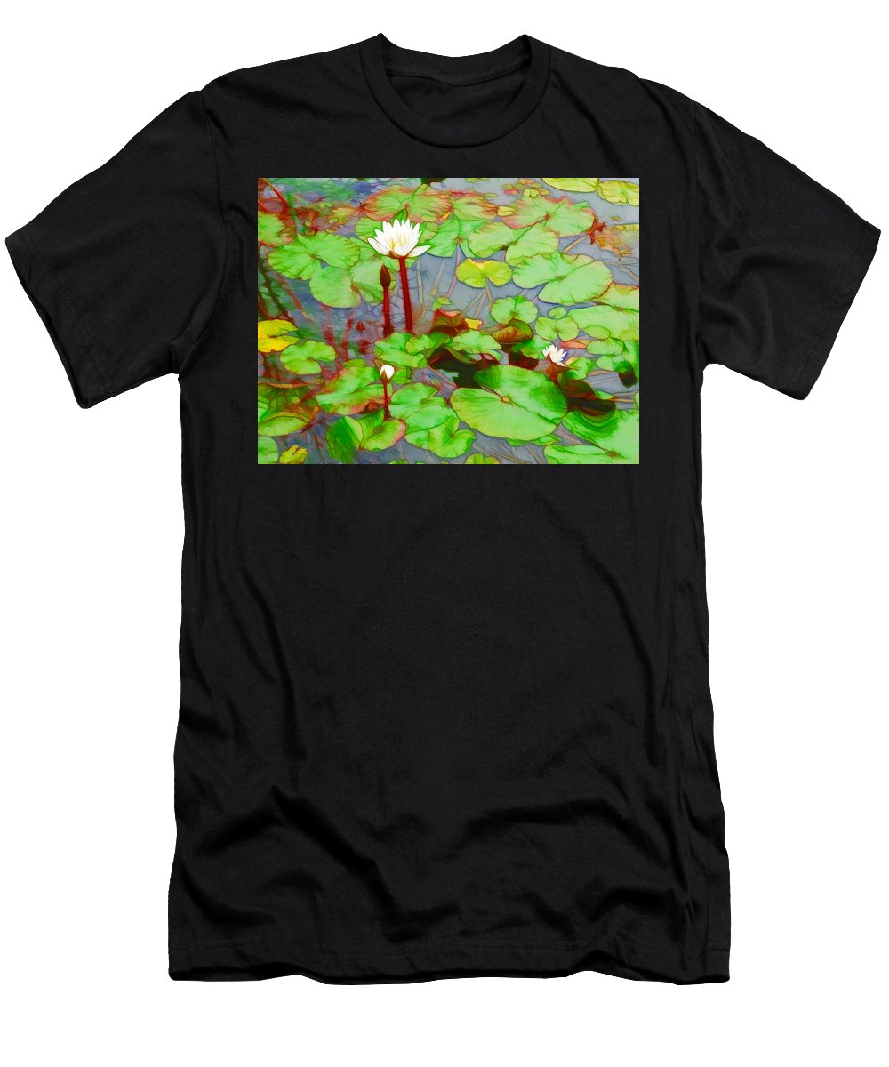 Lotus Men's T-Shirt (Athletic Fit) featuring the painting Really by Jeelan Clark
